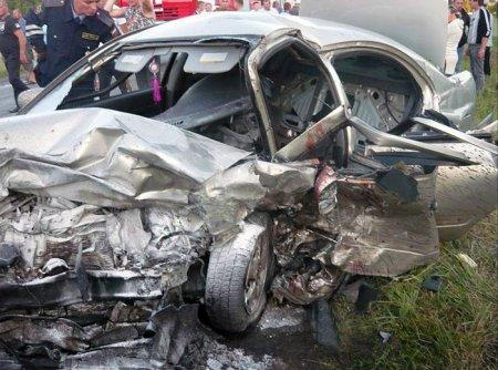 Авто авария в Чувашии. Трасса Чебоксары - Ульяновск 21.07.2012