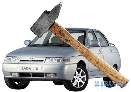 Ремонт кузова ВАЗ 2110 онлайн. Полностью убитая машина превращается в конфетку