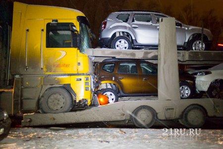 Крупная авария грузовых фургонов. Хыркасы Чувашия