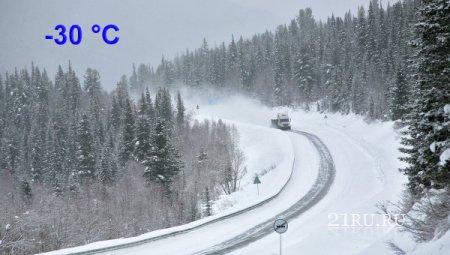 Что взять в дорогу зимой в сильные морозы. Комплектация автомобиля.