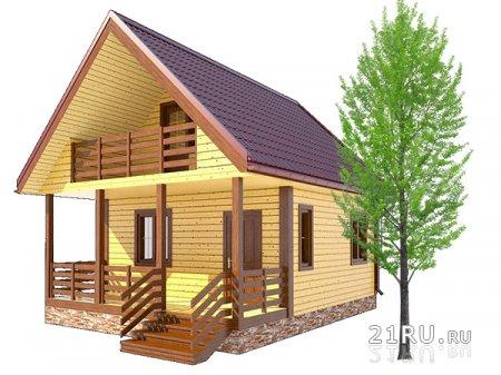 Плюсы дачных домов из бруса и бревна